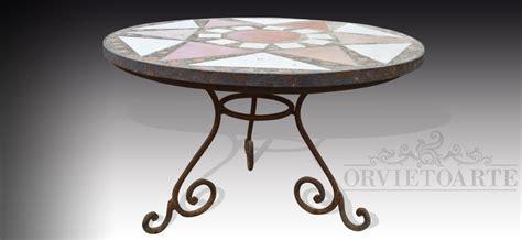 tavoli in ferro battuto e mosaico tavoli da giardino in ferro e mosaico mobilia la tua casa