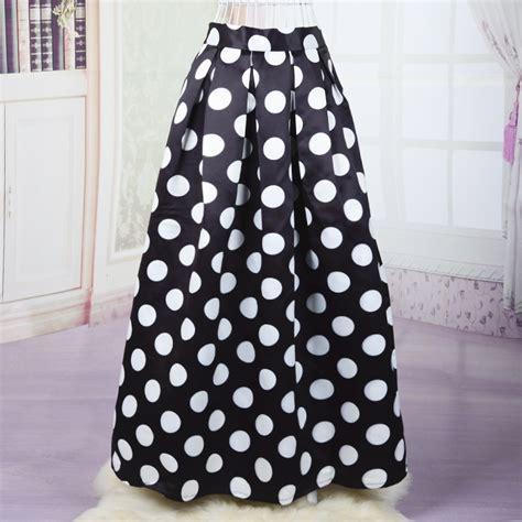 Rok Skirt Polkadot aliexpress buy a795 maxi midi skirt for polka dot print skirts womens fashion