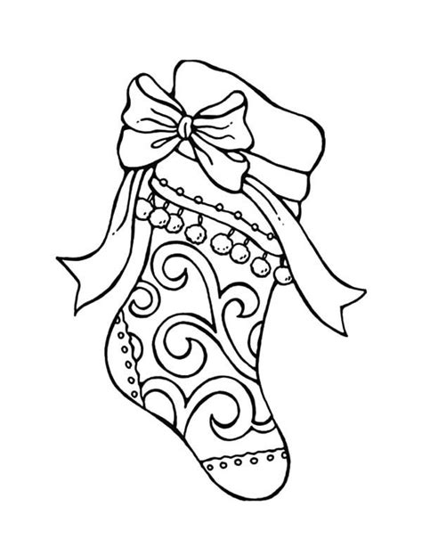 coloring pages for xmas stockings tribal decorated christmas stockings coloring pages