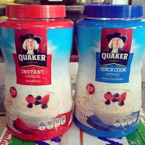 perbedaan quaker oat merah  biru  memaksimalkan