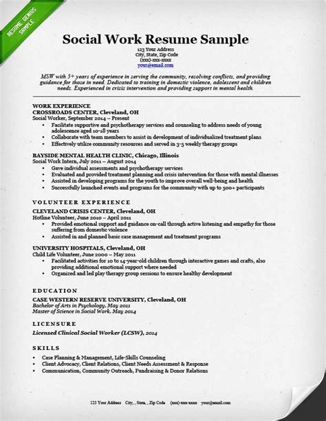social worker resume exles best resume gallery