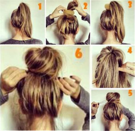 how to do quick messy hairstyles messy bun hairstyle for long hair 16 hairzstyle com