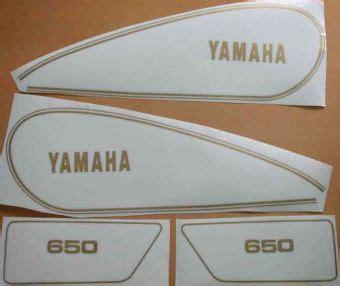 Yamaha Xs Aufkleber yamaha xs 650 tankdekor seitendeckeldekor xs650