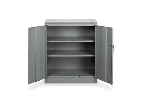 tennsco 1442 gray counter height storage cabinet standard