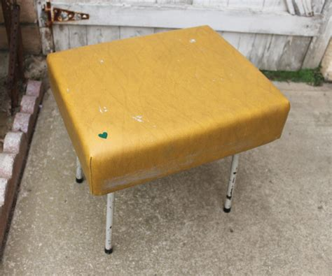 Mustard Colored Stools by Mid Century Modern Mustard Colored Stool Foot Stool End