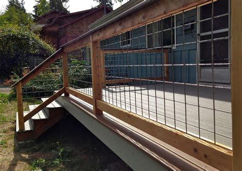 Hog Panel Deck Railing by Decoration Hog Panel Deck Railing With Some
