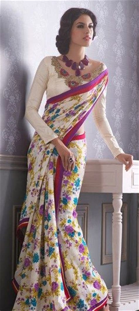 Floral Print Blouse Material For Saree by Summer Fashion Trends 2015 Floral Fashion