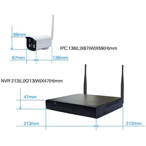 Nvr Cctv Wireless Kit 130w Hd 4ch With 4 960p 161101 1 wireless nvr kit 130w hd 4ch with 4 cctv black