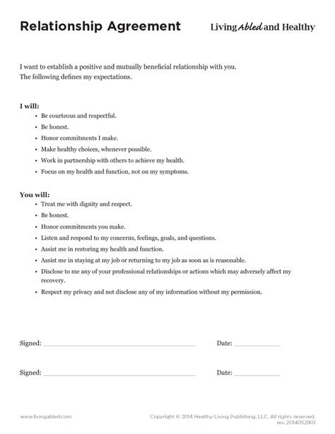 relations agreement template 20 relationship contract templates relationship agreements