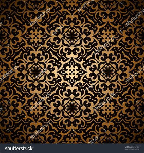 gold vintage pattern background vintage gold background vector seamless pattern abstract