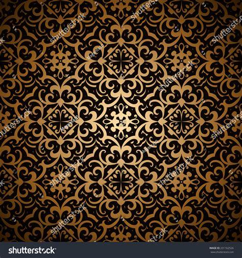 gold vintage pattern vintage gold background vector seamless pattern stock