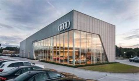 audi dealership design rainscreen drives dealership design metal construction