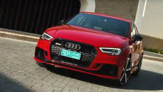 2018 audi rs3 sedan is a 2 5l turbo practical rocket says