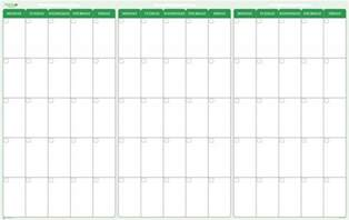 3 day calendar template 90 day 3 month erase calendar 38 x 58