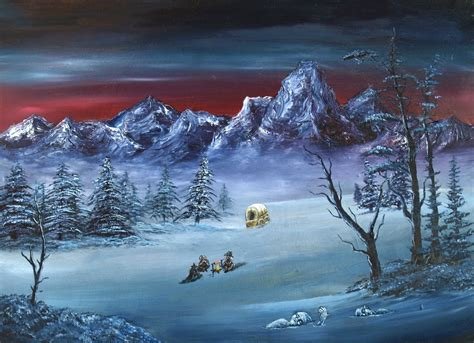 bob ross paintings purchase evil bob ross iii happy donner by cmurr on