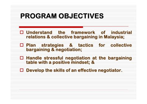 Industrial Relations In Hrm For Mba In Jntu Notes by Effective Collective Bargaining Negotiation Skills