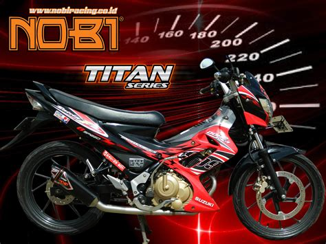 Jual Suzuki Titan jual knalpot nob1 titan suzuki satria fu gas motor