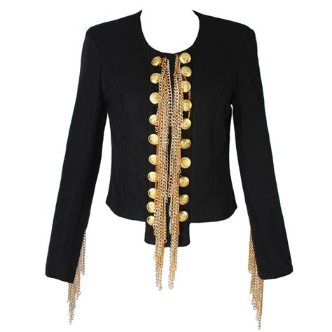 Handmade Jacket - new woolen jacket balmain shoulder metal