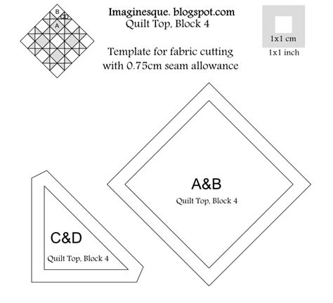 quilt cutting templates imaginesque quilt top block 4 pattern templates for