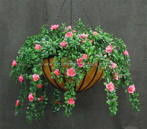 Fake Plants For Home Decor by Outdoor Artificial Flowers Hanging Baskets Artificial