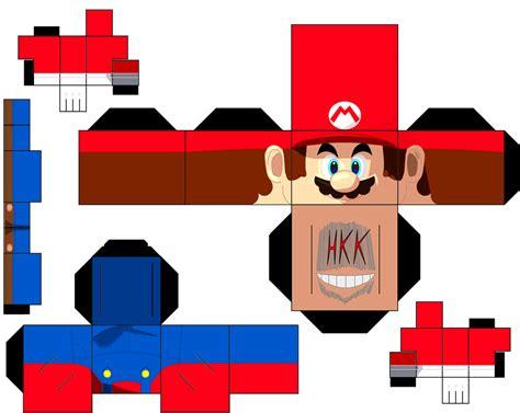 Papercraft Mario - mario paper free printable papercraft templates