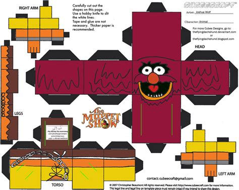 Papercraft Shows - muppets 4 animal cubee by theflyingdachshund on deviantart