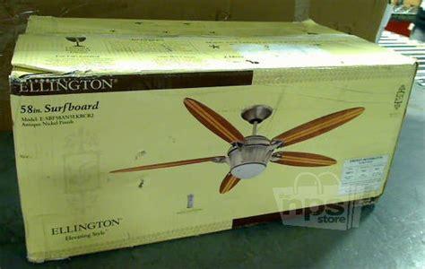 ellington e sbf58an5lkrcr2 surfboard ceiling fan 58