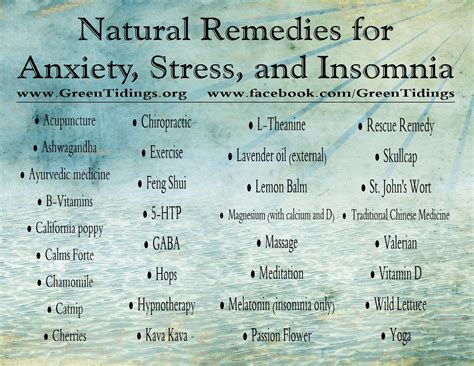 remedies for anxiety green tidings store