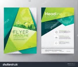 Alluring brochure design abstract triangle brochure flyer design