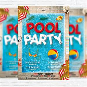 pool party premium flyer template facebook cover