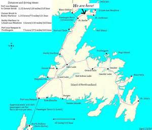 map of canada newfoundland wildberry country inn