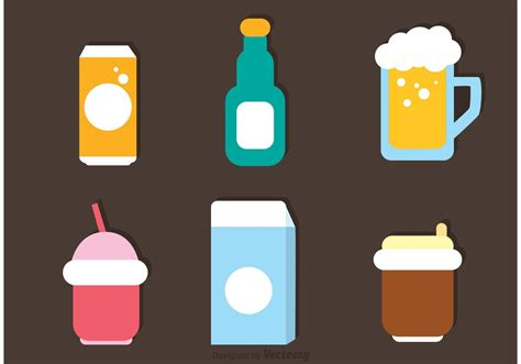 drink vector flat drinks icons vector download free vector art stock