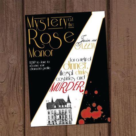 1920 s murder mystery dinner party invitation pinterest