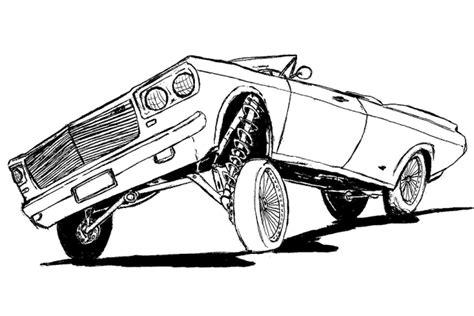 coloring pages lowrider cars desenhos de carros para pintar