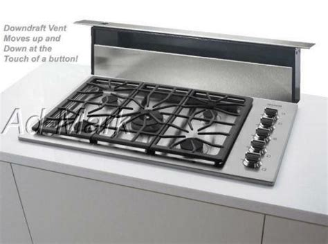 cooktops with downdrafts 36 cooktop downdraft ebay