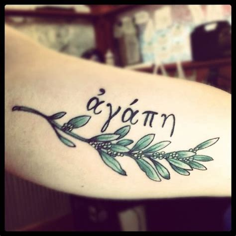 tattoo quotes about unconditional love greek for agape unconditional love with olive branch i