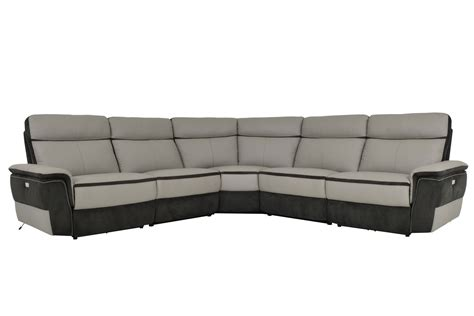 top grain leather reclining sectional homelegance laertes power reclining sectional sofa set