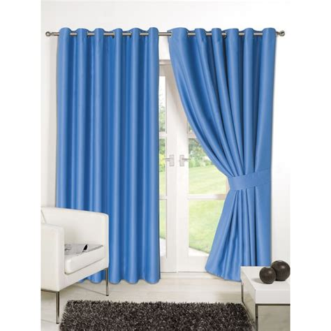 blue blackout eyelet curtains dreamscene blackout eyelet curtains blue iwoot