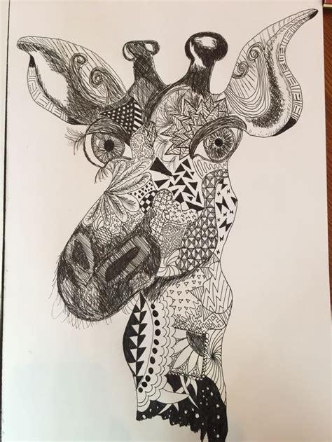 zentangle pattern giraffe 145 best images about art on pinterest watercolors all