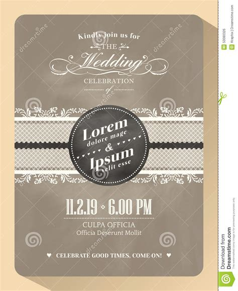 classic wedding card template classic vintage wedding invitation card template stock