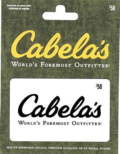 50 Cabela S Gift Card For 40 - cabelas 50 gift card 40 free shipping amazon