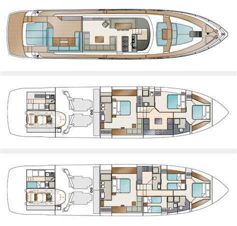 Yacht Floor Plan by Fairline Boats Present Their New Flagship The Targa 75