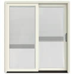 Patio Doors With Blinds Shop Jeld Wen W 2500 71 25 In Blinds Between The Glass