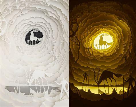 paper cut light box template elegantlightboxpapercutdioramas9 fubiz media