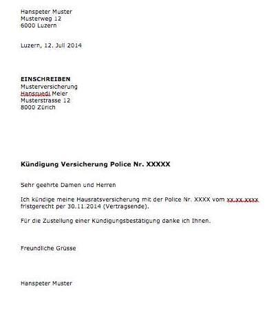 Brief Mietzinssenkung Schweiz k 252 ndigung vorlage arbeitsvertrag schweiz muster und