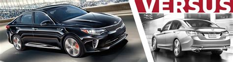 Compare Kia Models Compare 2016 Kia Optima Vs 2016 Honda Accord Ventura Ca