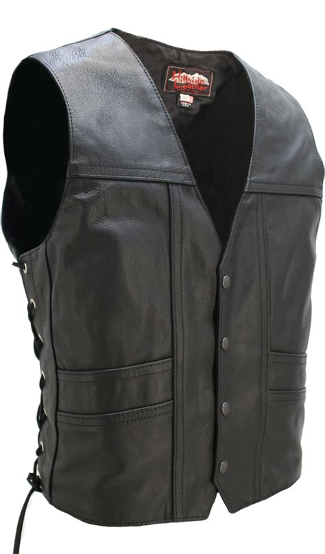 leather motorcycle vest back cruiser motorcycle leather vest with gun pockets