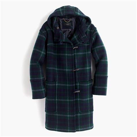 Plaid Hooded Coat hooded toggle coat in plaid s coats jackets j crew
