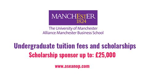 Manchester Mba Tuition Fees by The Of Manchester Undergraduate Tuition Fees