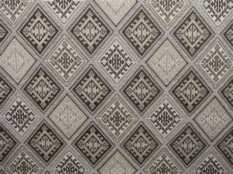 Kilim Upholstery Fabric by Brockhall Designs Kilim Weave Chenille Grey Ivory Fabric